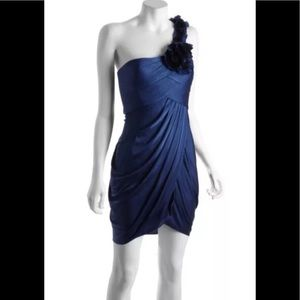 BCBG Max Azria Draped Jersey Addison Dress Med New
